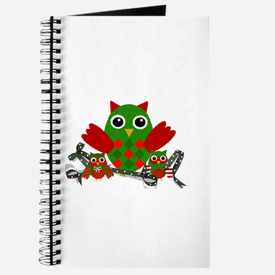 Owls Decorating for Christmas Journal