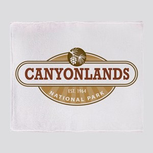 Canyonlands National Park Throw Blanket