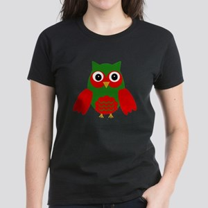 Holly the Red and Green Owl T-Shirt