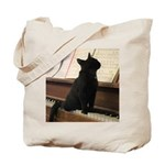 Piano Kitty Tote Bag