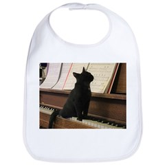 Piano Kitty Baby Bib