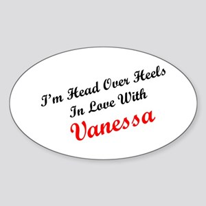 In Love with Vanessa Oval Sticker