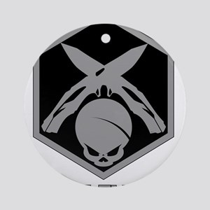 Knife Flipper Round Ornament
