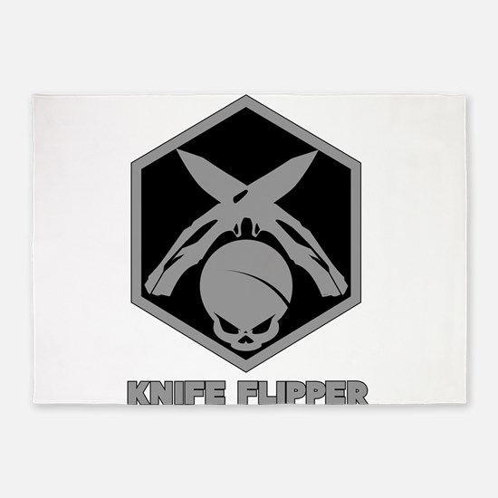 Knife Flipper 5'x7'Area Rug