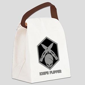 Knife Flipper Canvas Lunch Bag