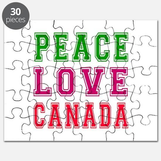 Peace Love Canada Puzzle