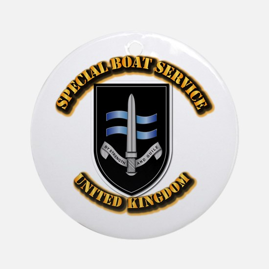 Special Boat Service - UK Ornament (Round)