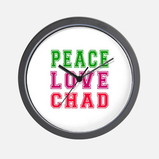 Peace Love Chad Wall Clock