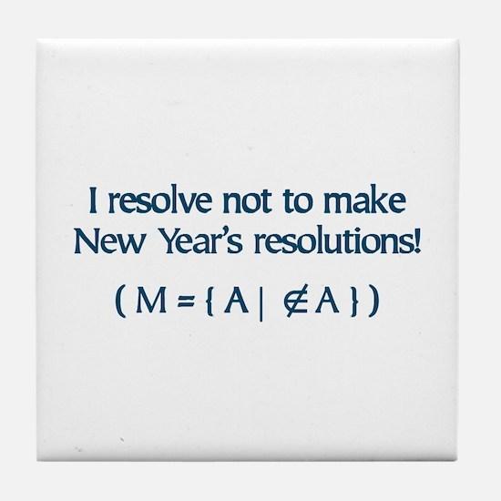 NY Resolutions  Tile Coaster