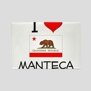I Love Manteca California Magnets