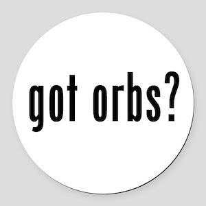got orbs? Round Car Magnet
