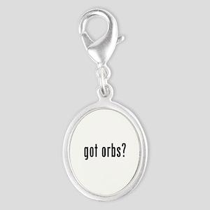 got orbs? Silver Oval Charm