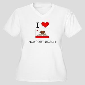 I Love Newport Beach California Plus Size T-Shirt