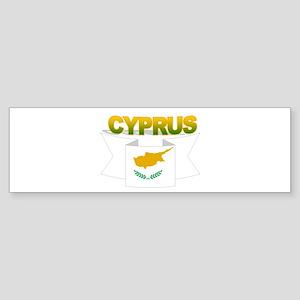 Cyprus flag ribbon Bumper Sticker