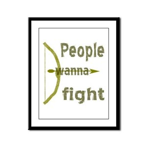 People Wanna Fight Bow Arrow Framed Panel Print