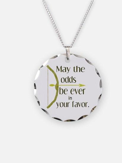 Odds Favor Bow Arrow Necklace Circle Charm