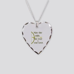 Odds Favor Bow Arrow Necklace Heart Charm