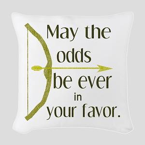 Odds Favor Bow Arrow Woven Throw Pillow