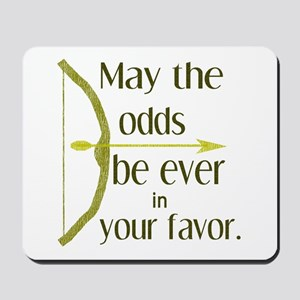 Odds Favor Bow Arrow Mousepad