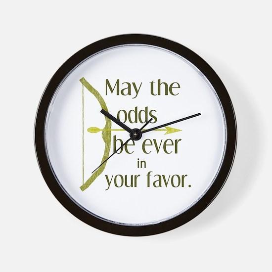 Odds Favor Bow Arrow Wall Clock