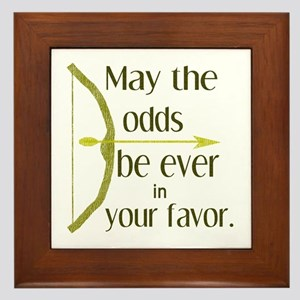 Odds Favor Bow Arrow Framed Tile