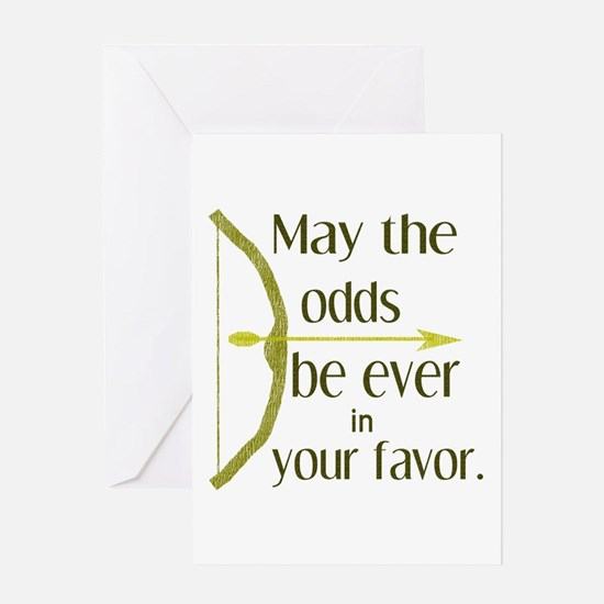 Odds Favor Bow Arrow Greeting Card