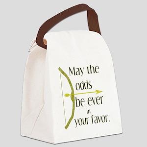 Odds Favor Bow Arrow Canvas Lunch Bag