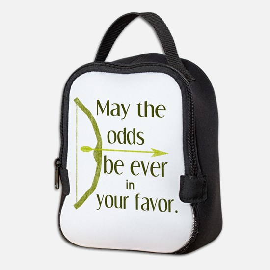 Odds Favor Bow Arrow Neoprene Lunch Bag