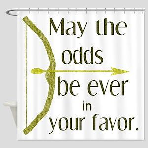 Odds Favor Bow Arrow Shower Curtain