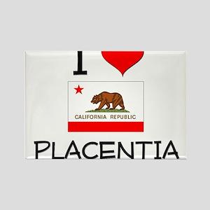 I Love Placentia California Magnets