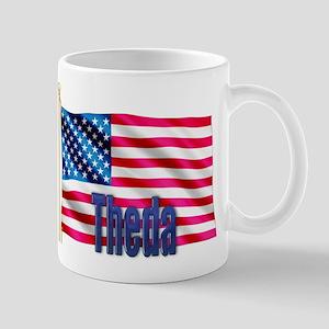 Theda American Flag Gift Mug