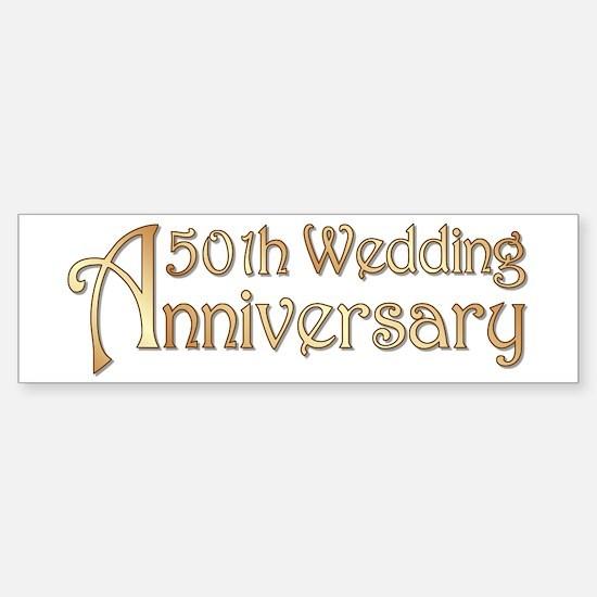 Typography Golden Wedding Anniversary Bumper Bumper Sticker