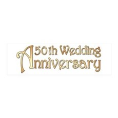 Typography Golden Wedding Anniversary Wall Decal
