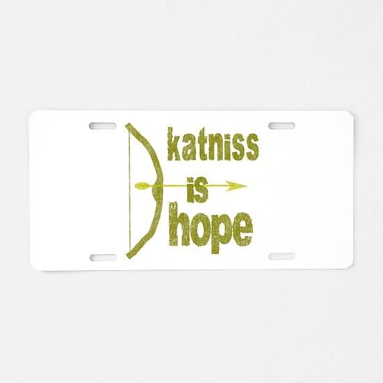 Katniss is Hope Bow Arrow Aluminum License Plate