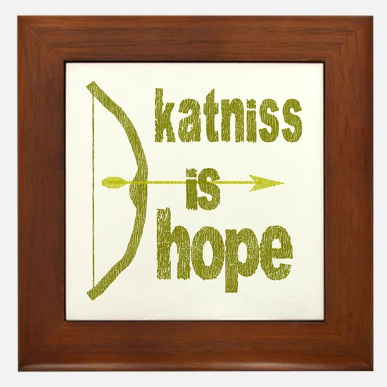 Katniss is Hope Bow Arrow Framed Tile