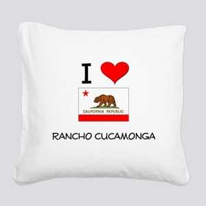 I Love Rancho Cucamonga California Square Canvas P