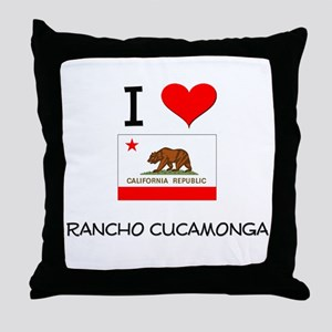 I Love Rancho Cucamonga California Throw Pillow