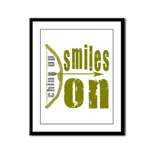 Chins Up Smiles On Bow Arrow Framed Panel Print