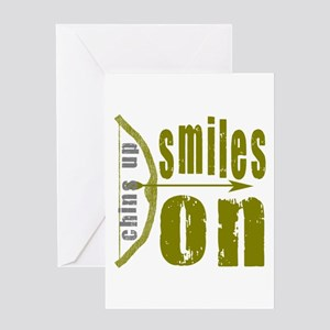 Chins Up Smiles On Bow Arrow Greeting Card