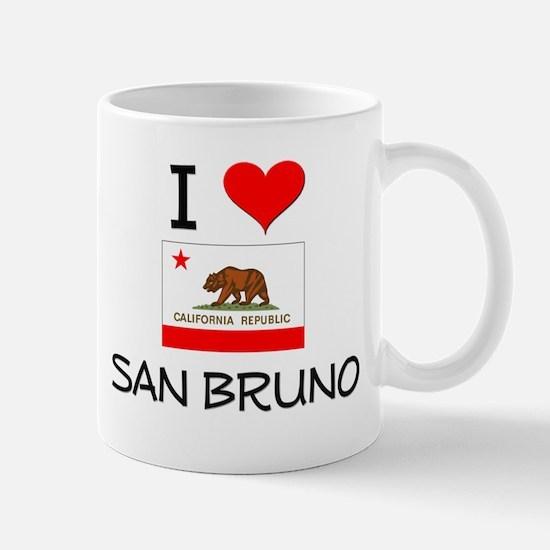 I Love San Bruno California Mugs