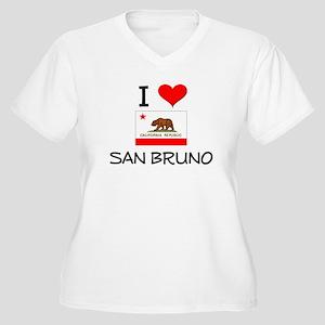 I Love San Bruno California Plus Size T-Shirt