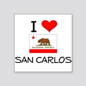 I Love San Carlos California Sticker