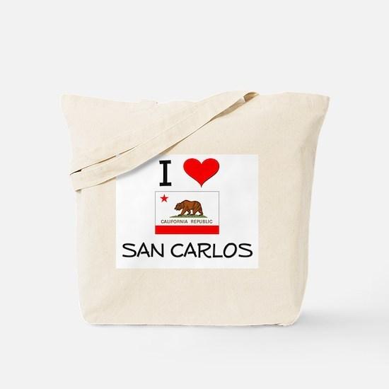 I Love San Carlos California Tote Bag