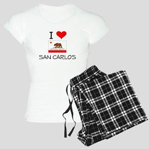 I Love San Carlos California Pajamas