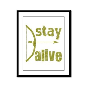Stay Alive Bow Arrow Framed Panel Print