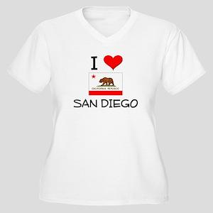 I Love San Diego California Plus Size T-Shirt