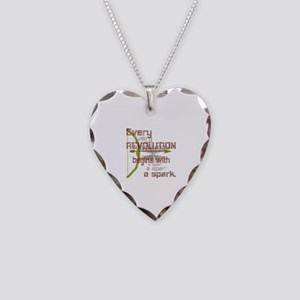 Revolution Spark Bow Arrow Necklace Heart Charm