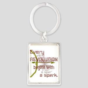 Revolution Spark Bow Arrow Portrait Keychain