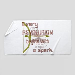 Revolution Spark Bow Arrow Beach Towel