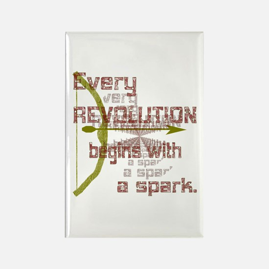 Revolution Spark Bow Arrow Rectangle Magnet